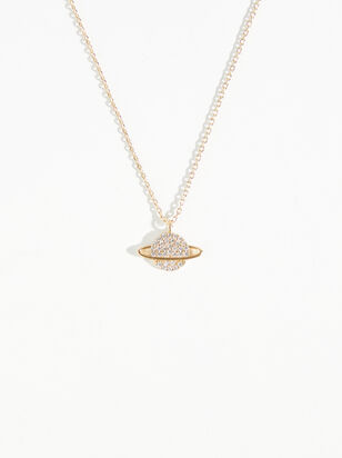 Dainty Planet Necklace - Altar'd State