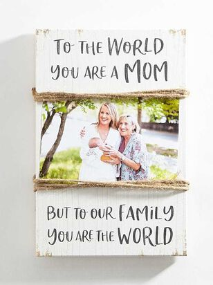 Mom the World Picture Frame - Altar'd State