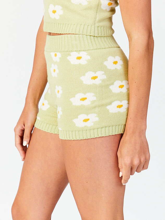 Daisy Sweater Lounge Shorts Detail 3 - Altar'd State