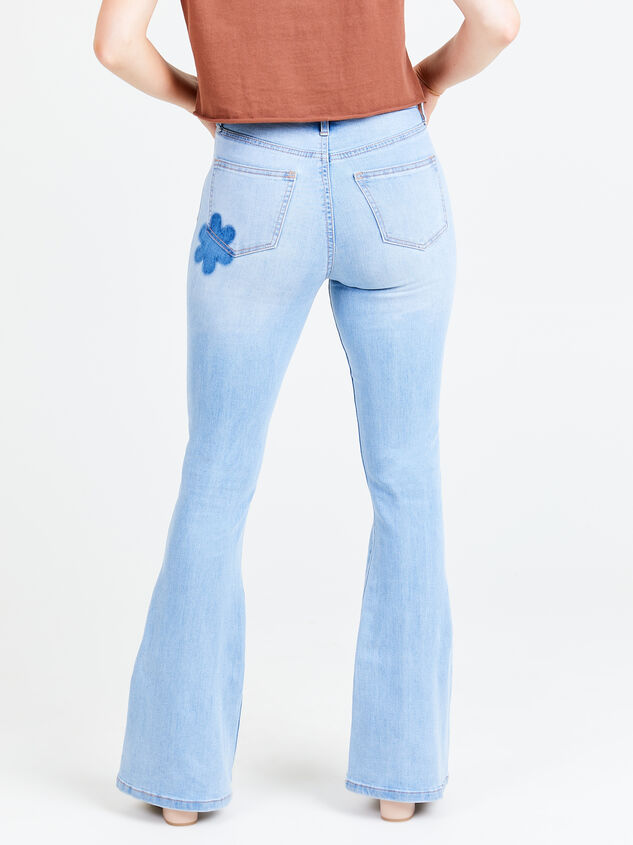 Daisy Waterside Flare Jeans Detail 1 - Altar'd State
