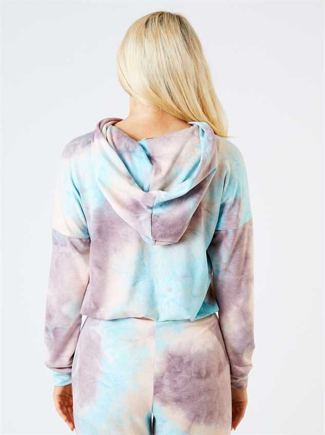 Hayley Tie Dye Lounge Top Detail 3 - Altar'd State