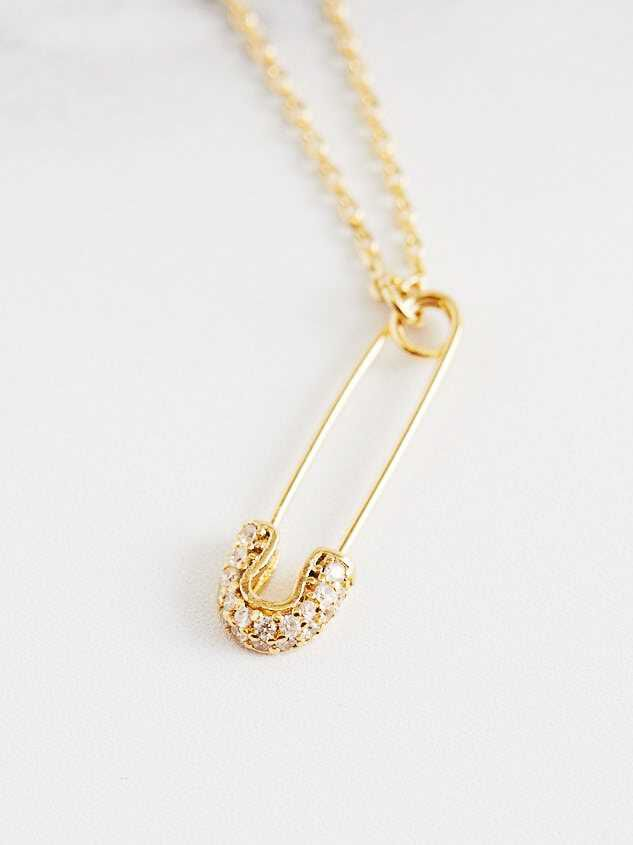 Safety Pin Charm Necklace - Altar'd State