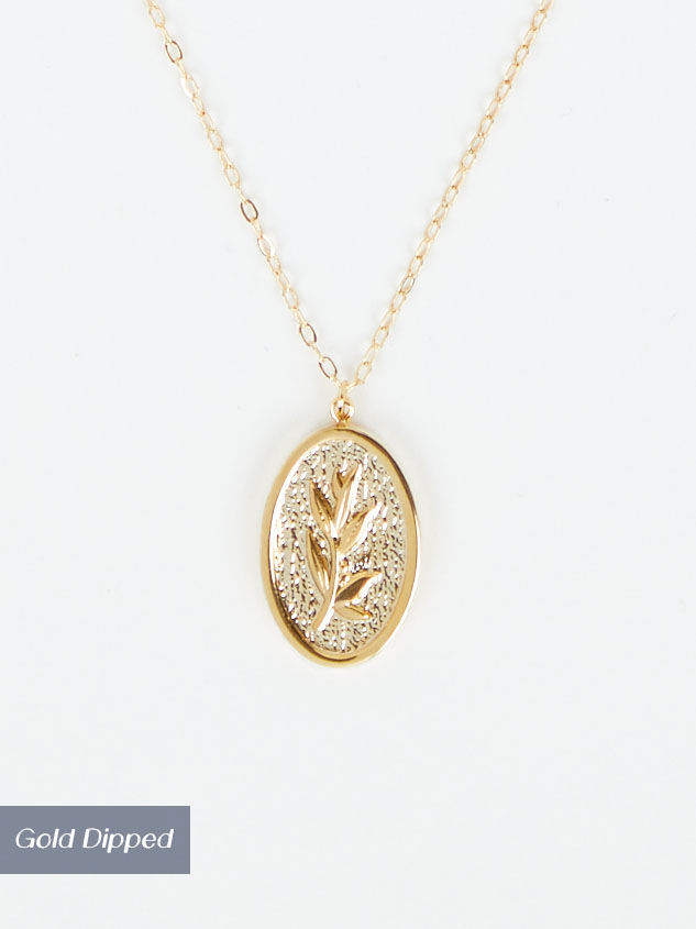 Gold Leaf Charm Necklace - Altar'd State
