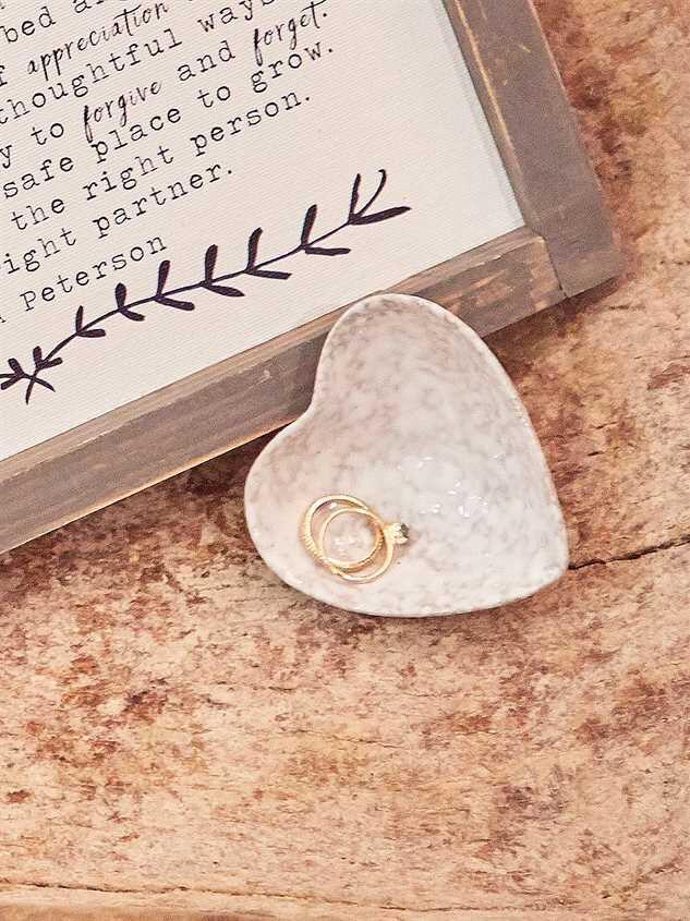 Stoneware Heart Trinket Dish - Altar'd State