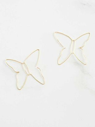 Butterfly Silhouette Earrings - Altar'd State