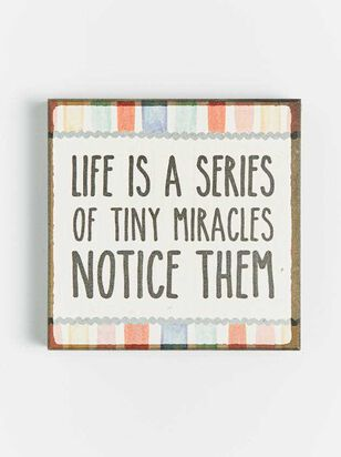Tiny Miracles Block Sign - Altar'd State