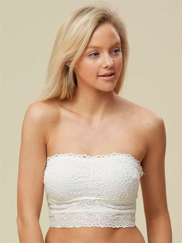 Sweetheart Bandeau - White - Altar'd State