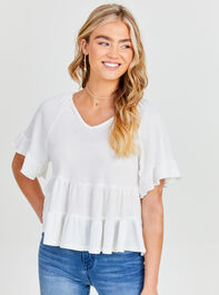 V-neck Ruffle Tiered Top Detail 3 - Altar'd State