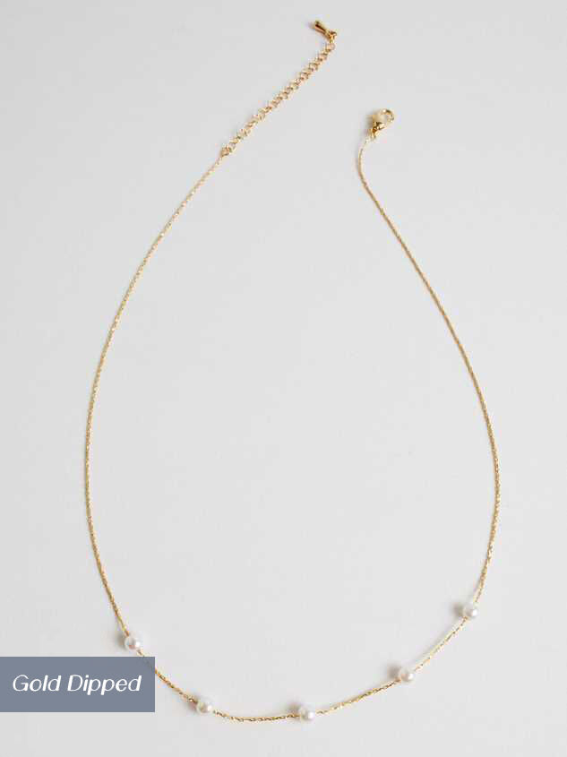 18k Gold Pearl Charm Necklace - Altar'd State