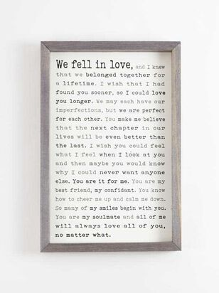 We Fell in Love Wall Art - Altar'd State