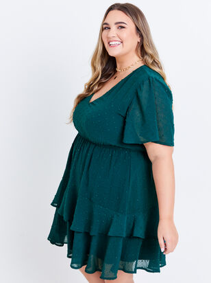 Tallulah Clipdot Dress - Evergreen - Altar'd State