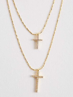 Double Cross Necklace - Altar'd State
