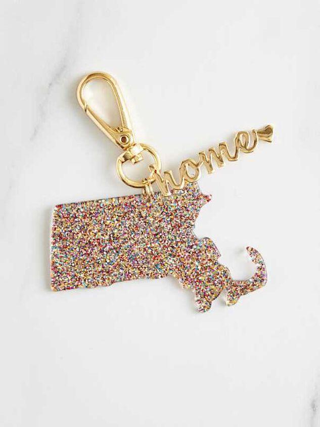 Home Glitter Keychain - Massachusetts - Altar'd State