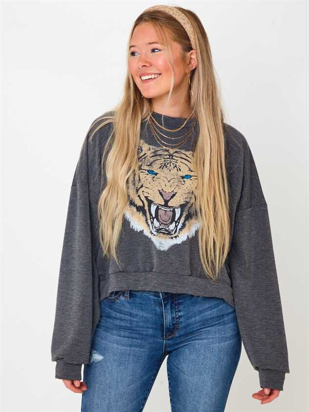 Growling Tiger Pullover Top - Altar'd State
