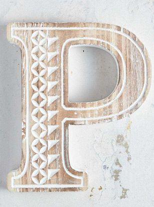 Wooden Monogram Letter Block - P - Altar'd State