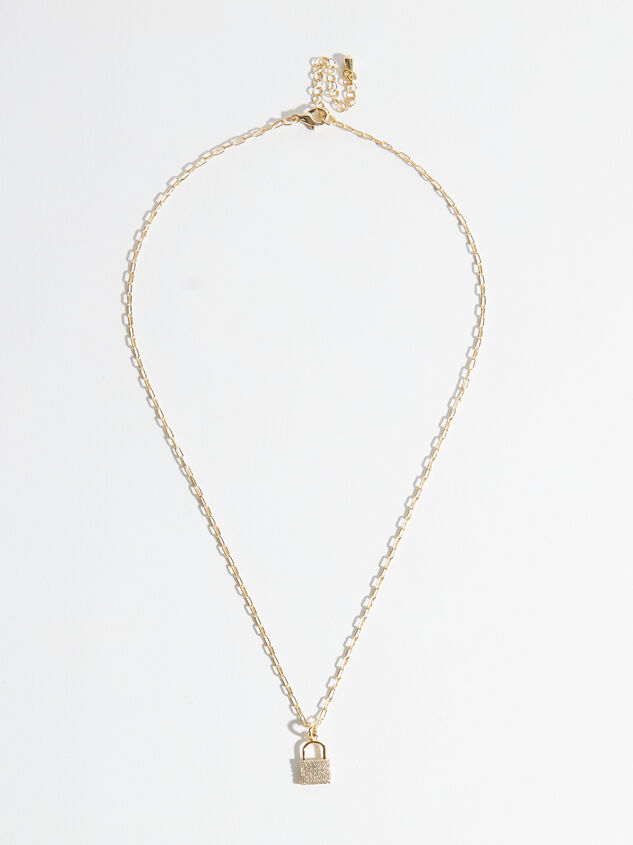 18k Gold Dainty Lock Necklace Detail 2 - Altar'd State