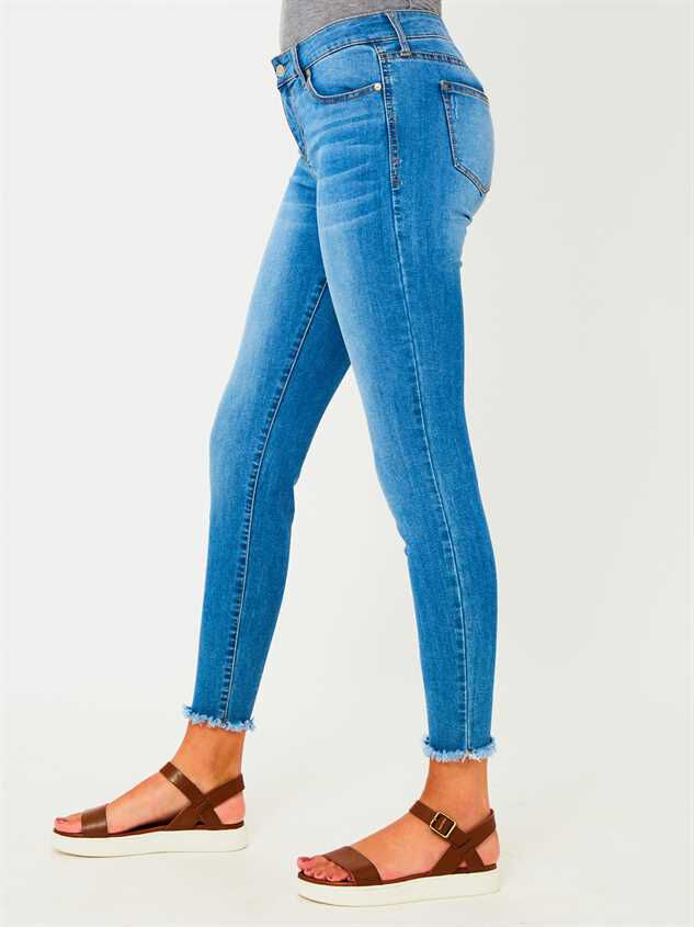 Feather Skinny Jeans Detail 3 - Altar'd State