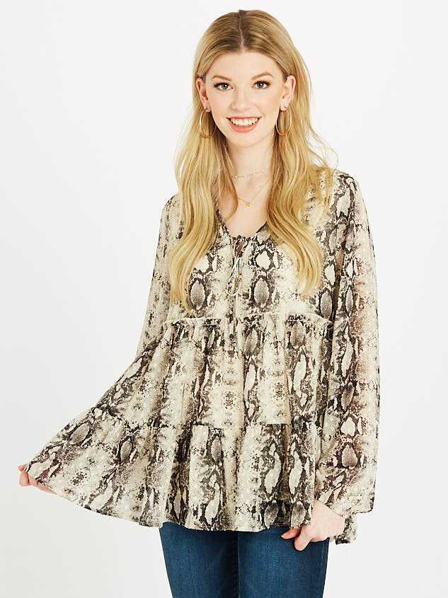 Snakeskin Tiered Top - Altar'd State