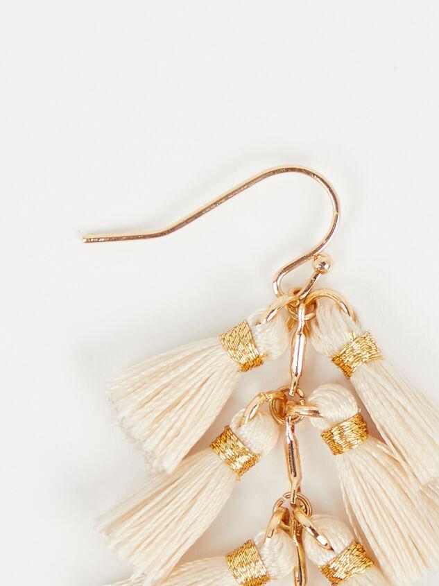 Cascading Tassel Earrings Detail 2 - Altar'd State