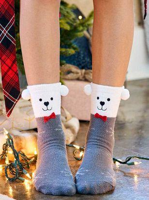 Polar Bear Critter Socks - Altar'd State
