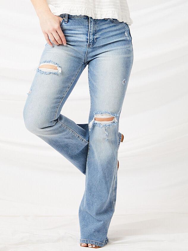 Galveston Flare Jeans Detail 4 - Altar'd State
