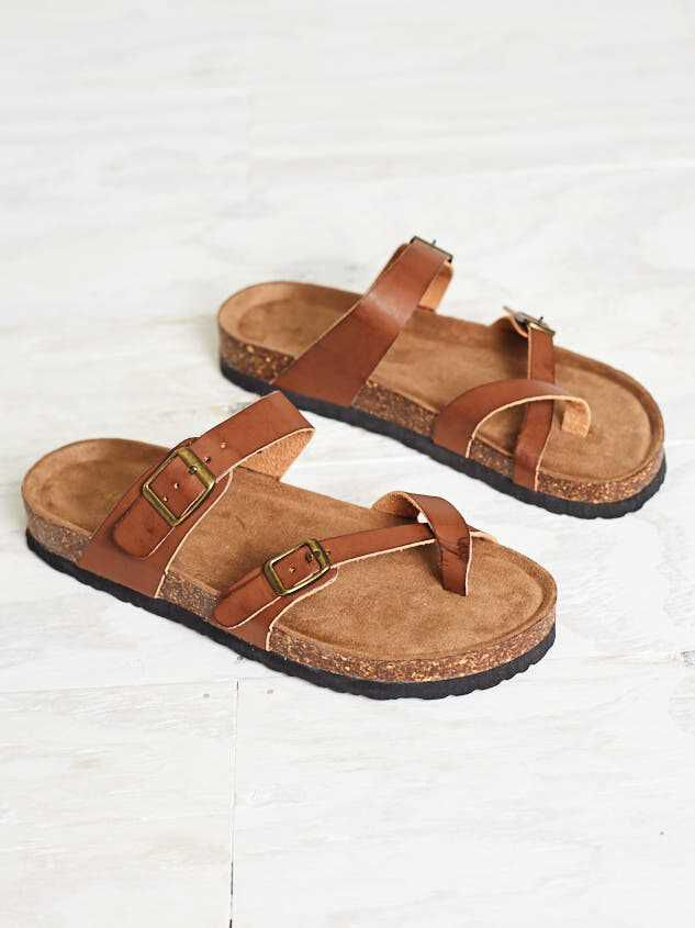 Bork Double Buckle Sandals - Altar'd State