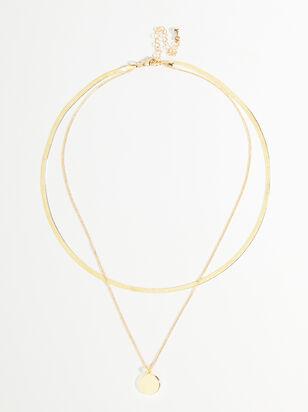 Herringbone Charm Necklace - Altar'd State