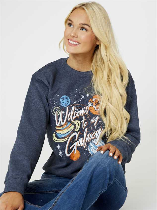 Welcome To My Galaxy Pullover Top - Altar'd State
