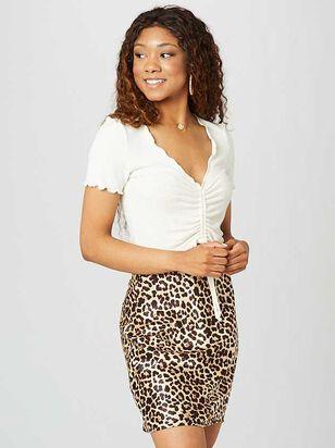 Leopard Satin Skirt - Altar'd State