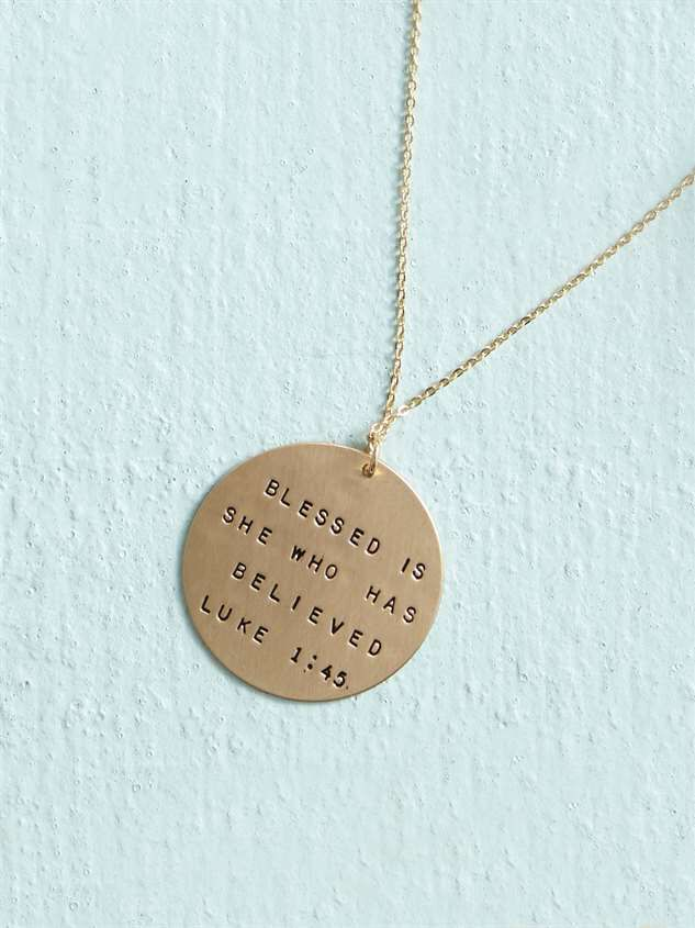 Blessed is She Necklace - Altar'd State
