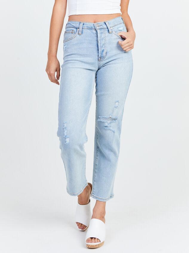 Crystal Beach Straight Leg Jeans Detail 2 - Altar'd State
