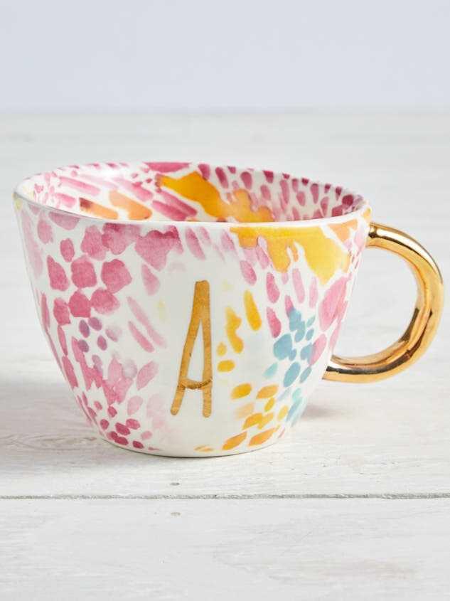 Hello Beautiful Monogram Mug - A - Altar'd State