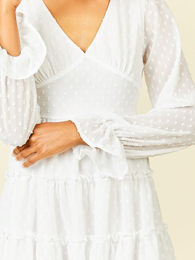 Eliza Dress - White Detail 4 - Altar'd State