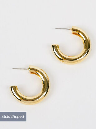 Ansley Thick Hoop Earrings - Altar'd State