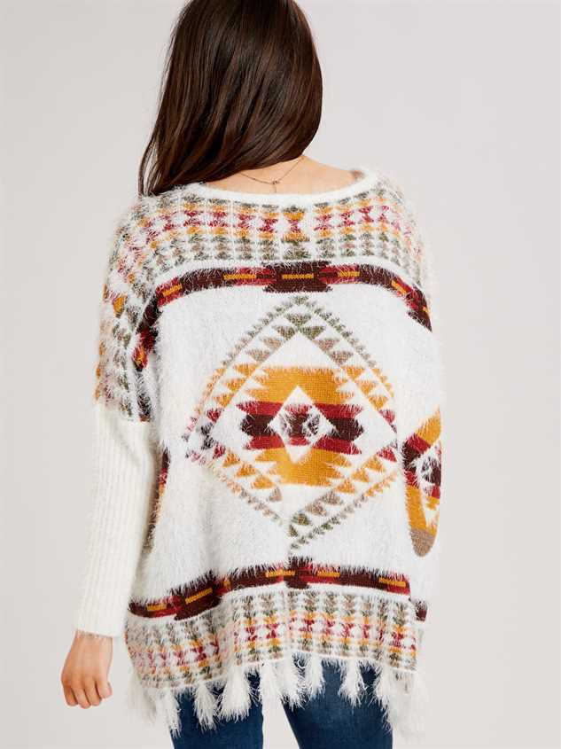 Lovely Lash Tribal Sweater Detail 4 - Altar'd State