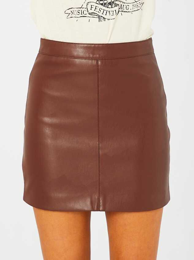Jane Leather Skirt Detail 2 - Altar'd State
