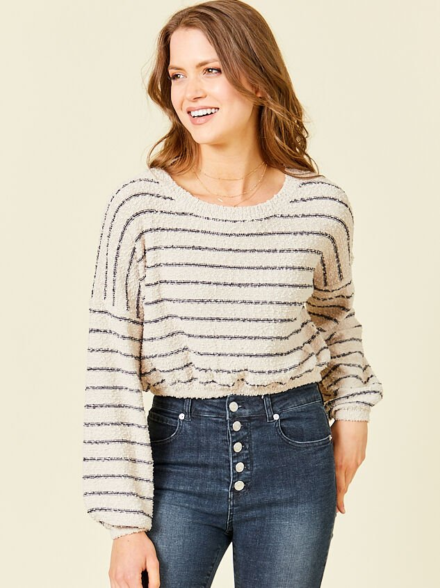 Maci Cropped Sweater Detail 1 - Altar'd State