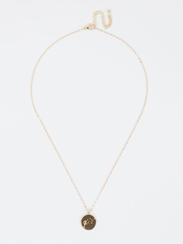 18k Gold Dandelion Coin Necklace Detail 2 - Altar'd State