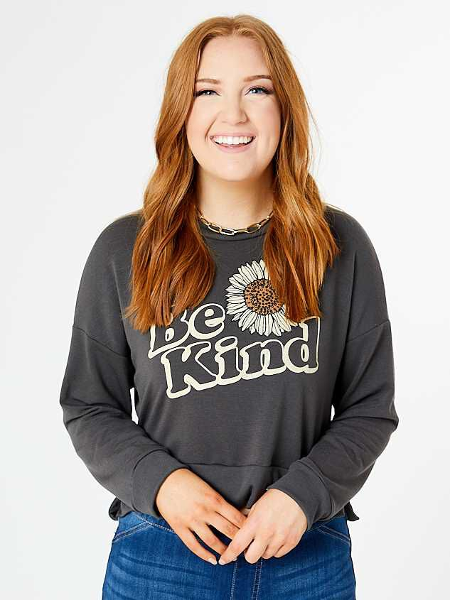 Be Kind Sunflower Pullover - Altar'd State