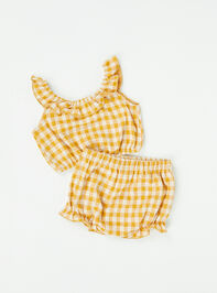 Tullabee Yellow Gingham Top and Bloomers Detail 2 - Altar'd State