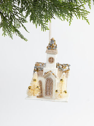 Paper Church Christmas Ornament - Altar'd State