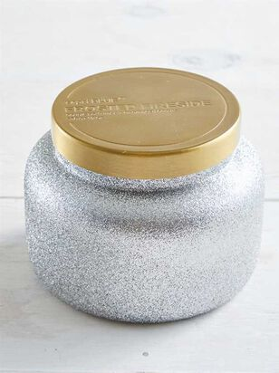 Frosted Fireside Glitter Candle - Altar'd State