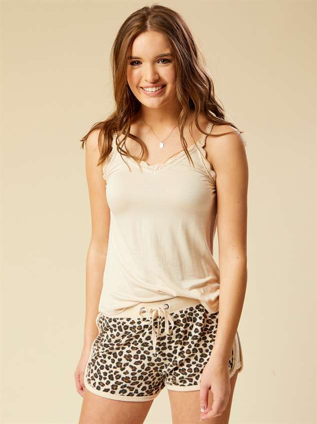 Lux Leopard Sleep Shorts - Altar'd State