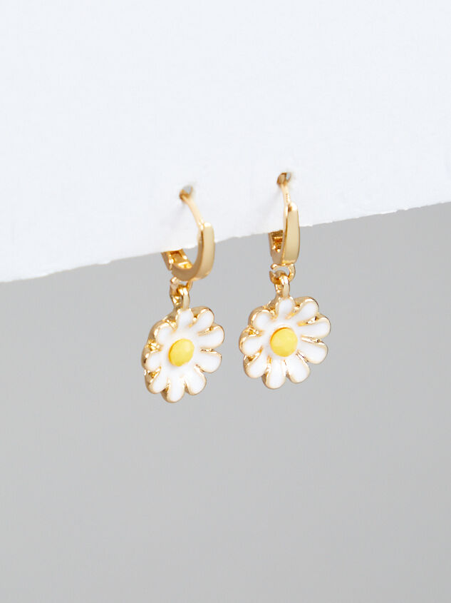 Daisy Mini Hoop Earrings - Altar'd State