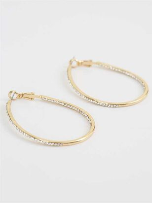 Hoop Stone Earrings - Altar'd State