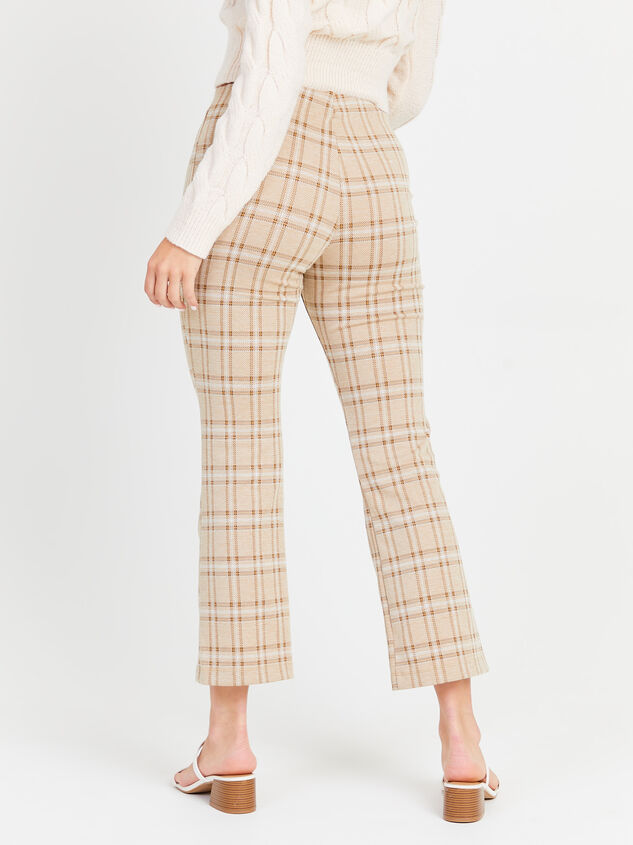 Cropped Plaid Kick Flare Pants Detail 3 - Altar'd State