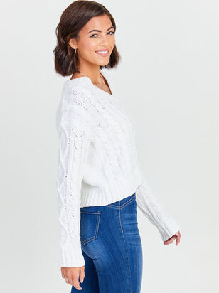 Chenille Cable Sweater - Altar'd State