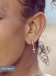 Cross Mini Hoop Earrings - Altar'd State