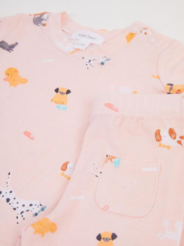 Tullabee Pink Puppy PJ Set Detail 2 - Altar'd State