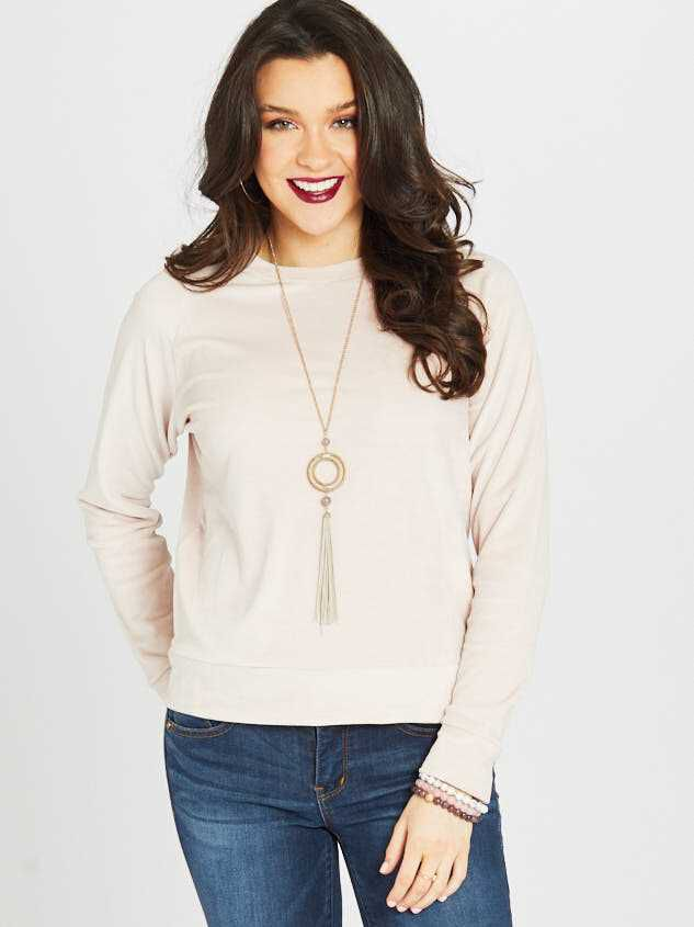 Milky Velour Banded Top - Altar'd State